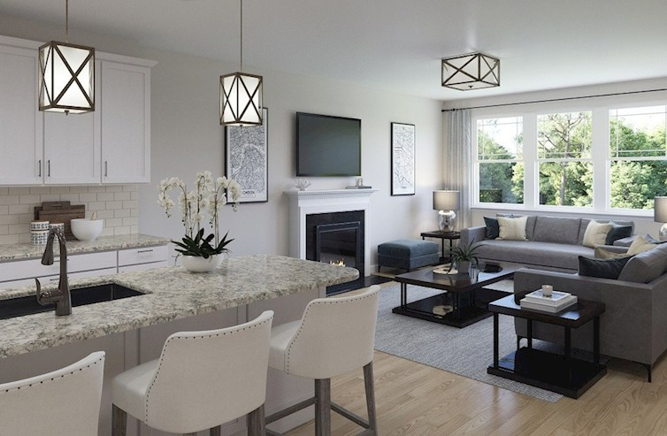 Gatherings® at Indian Lake Sherwood light-filled living room