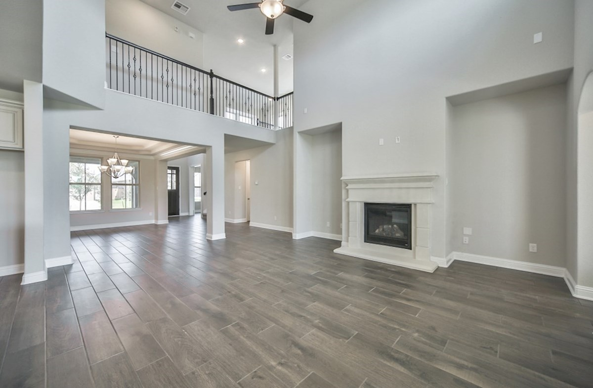 LaGrange quick move-in great room with cozy fire place