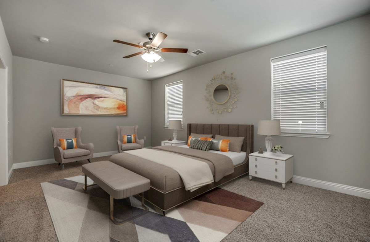 Sherwood quick move-in master bedroom with natural lighting