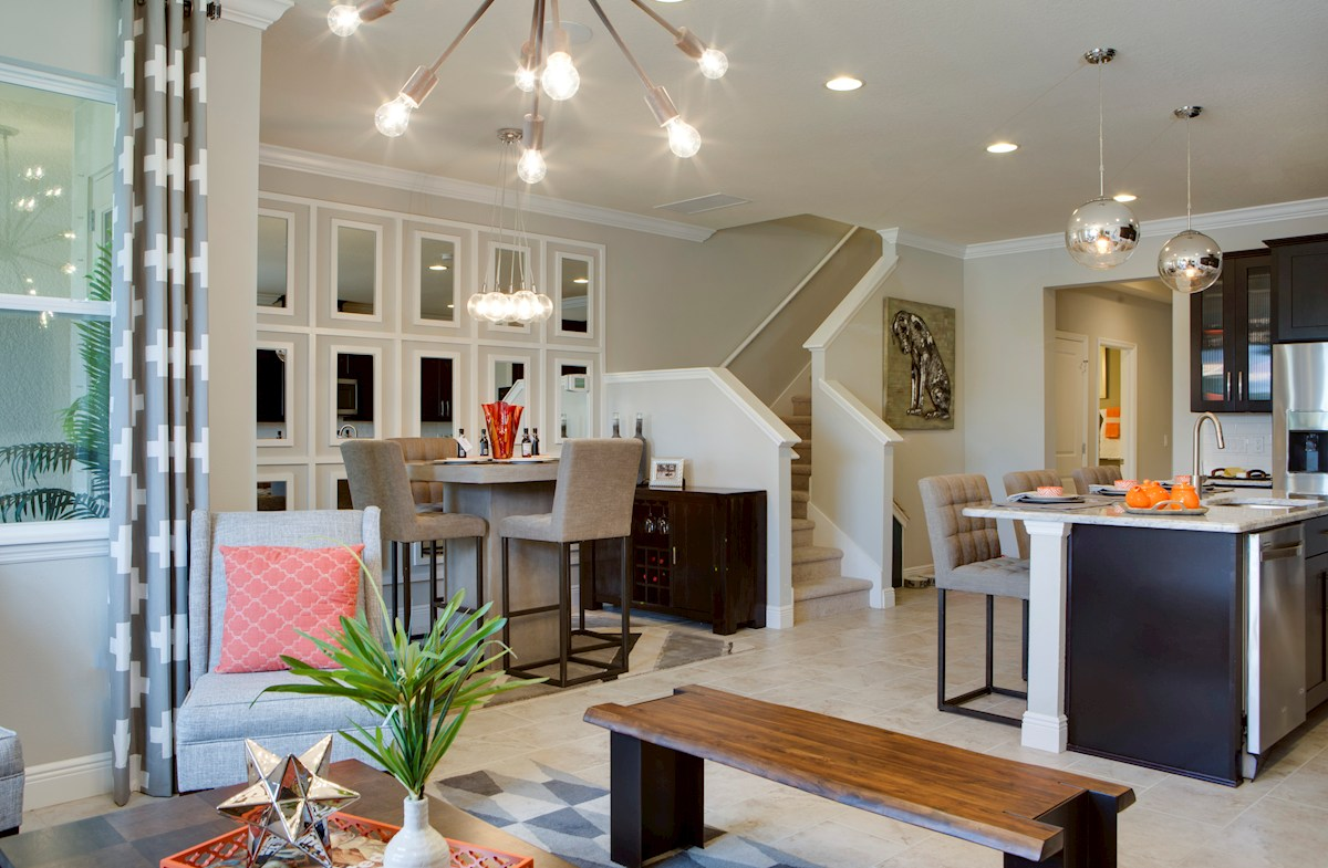 Long Lake Ranch Townhomes Champlain open living breakfast kitchen