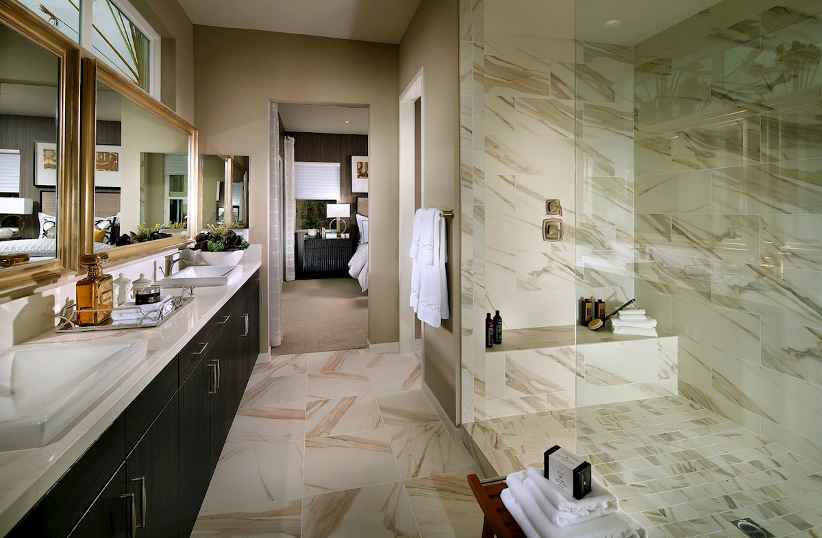 Vermillion at Escena Residence 4 Relax in this spa-inspired master bathroom