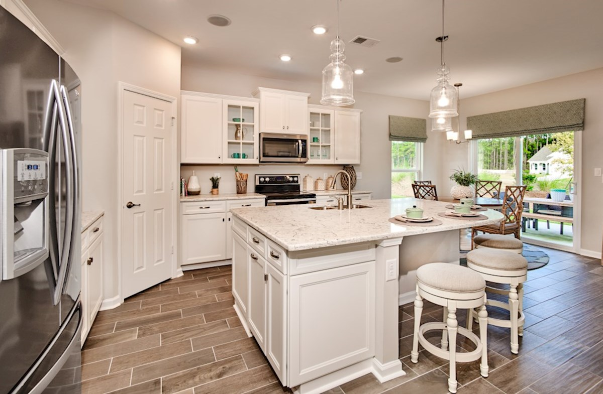 Surfside Plantation Savannah kitchen features granite countertops