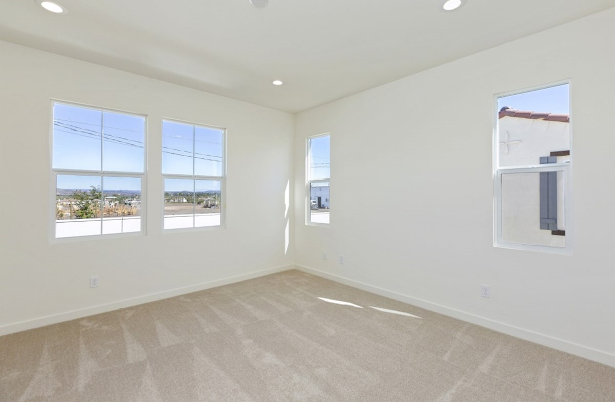 Suncup quick move-in Master bedroom located in the back of home for best exterior views and natural light.