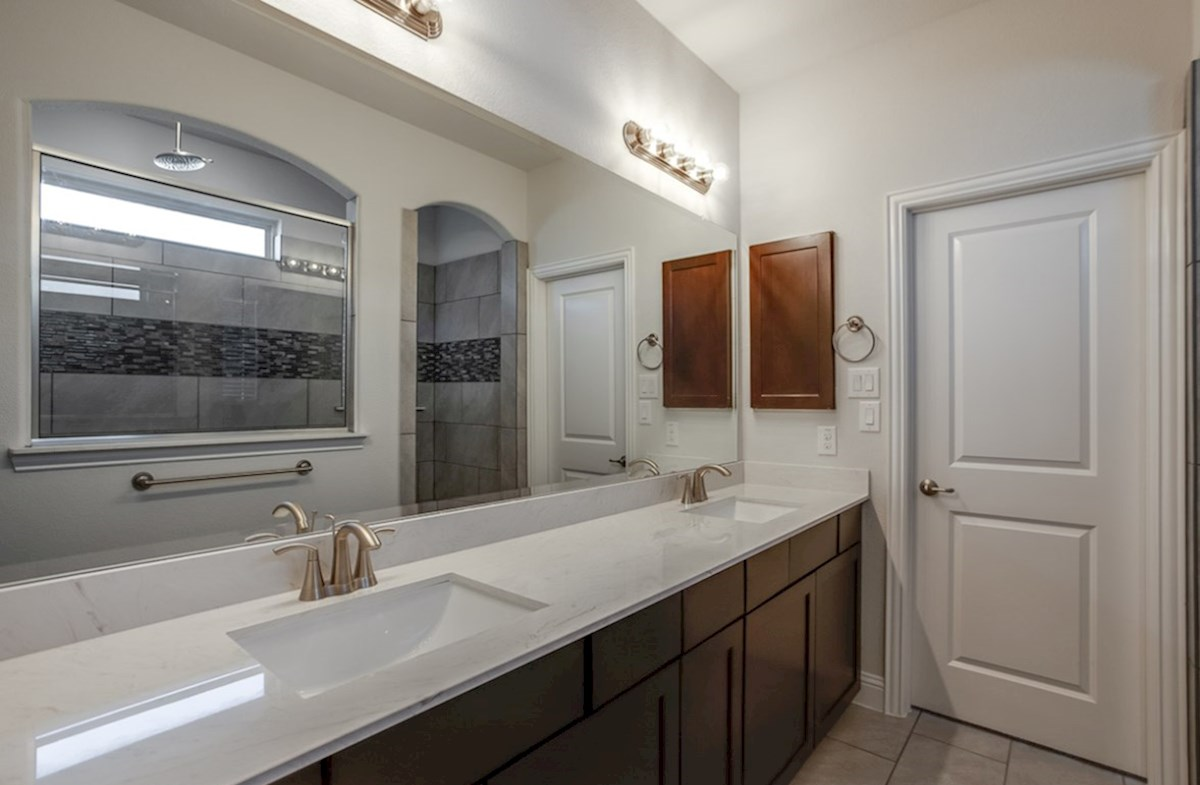 Hamilton quick move-in master bathroom with oversized walk-in shower