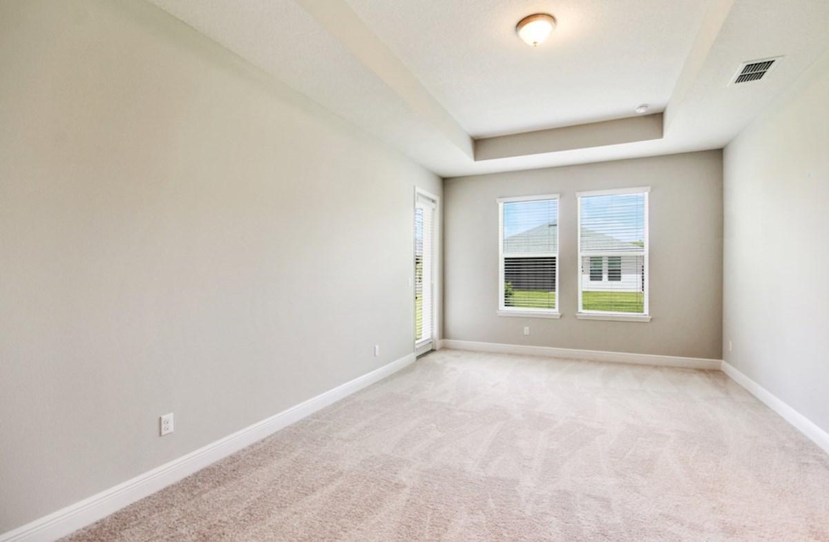 Reserve at Sawgrass Aspen relaxing master bedroom