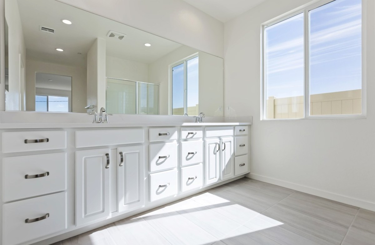 Piedmont quick move-in Separate vanities give you more space and privacy