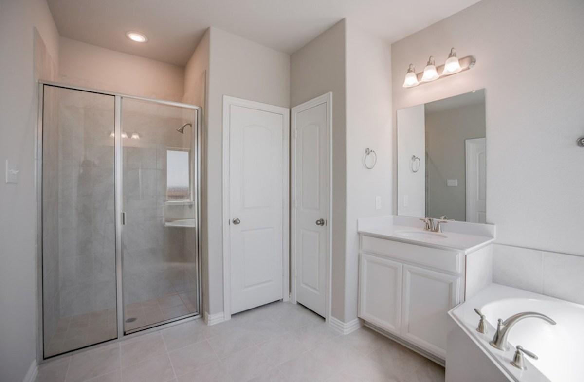 Prescott quick move-in Prescott master bathroom with walk-in shower