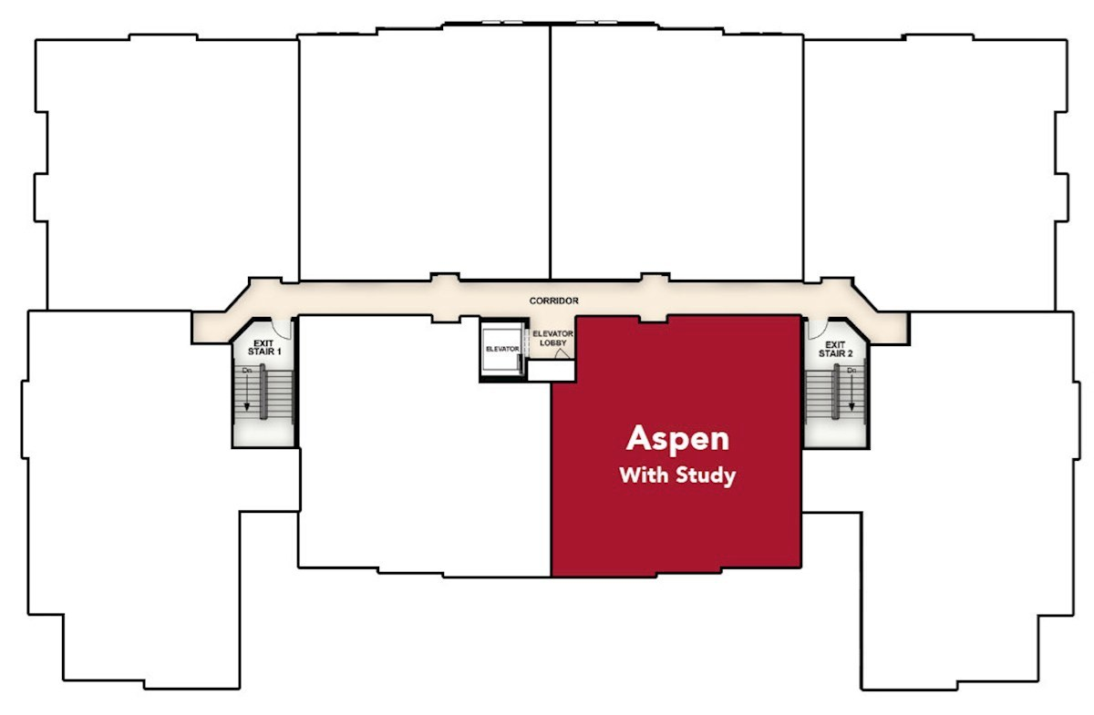 Aspen with Study quick move-in home location