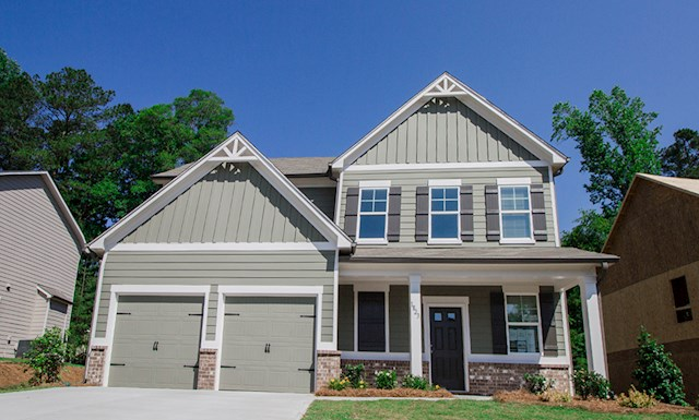 Two-story home with 2-car garage