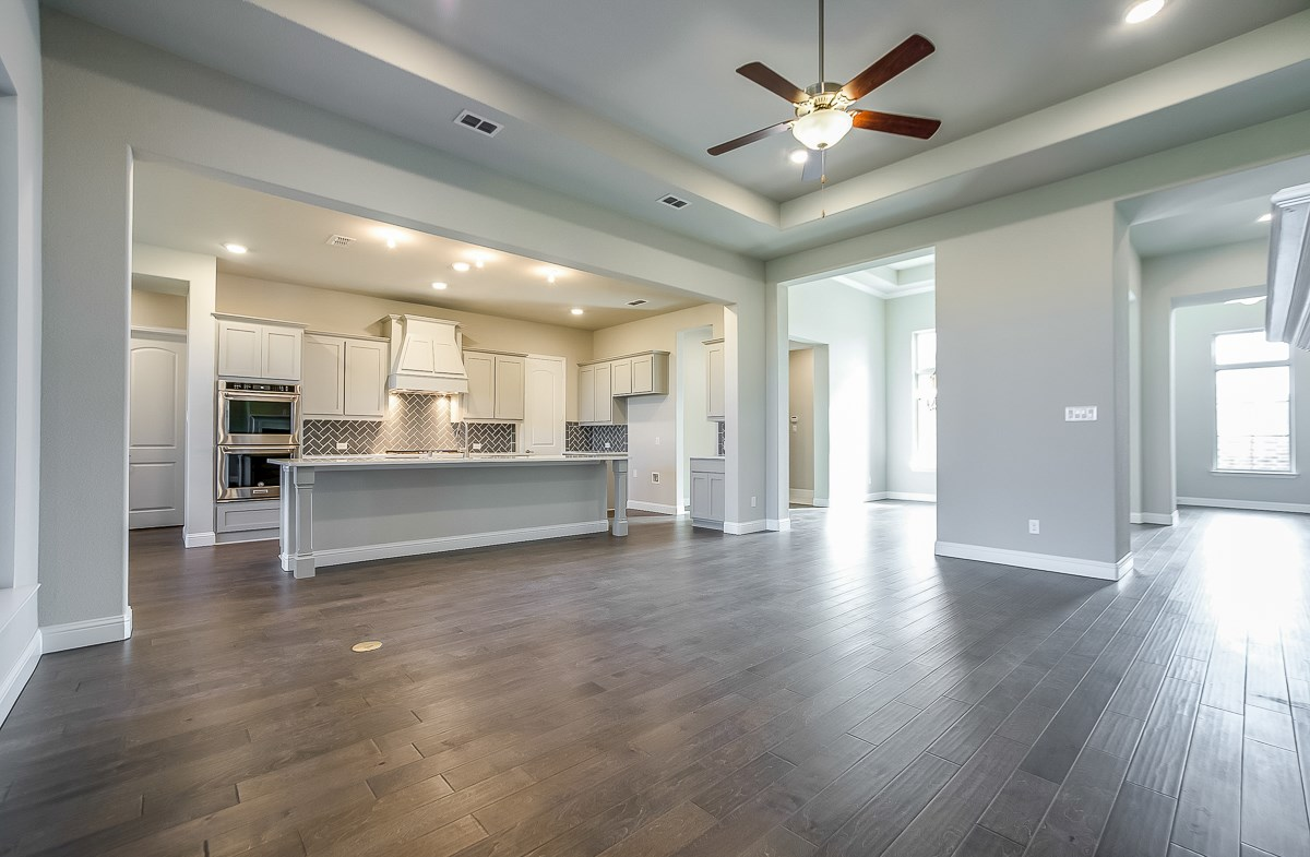 Calais quick move-in kitchen overlooks great room
