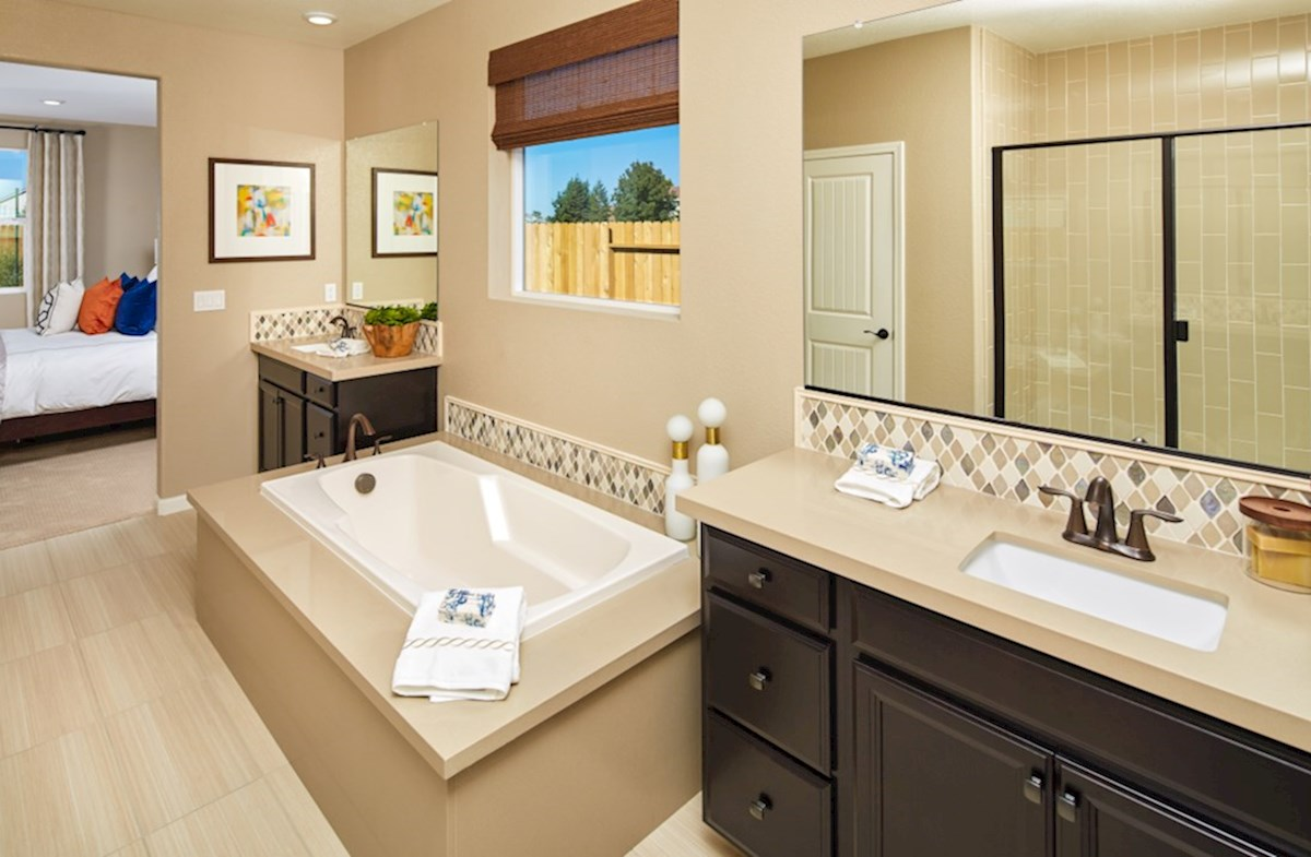Orchard Glen Shasta Shasta master bathroom