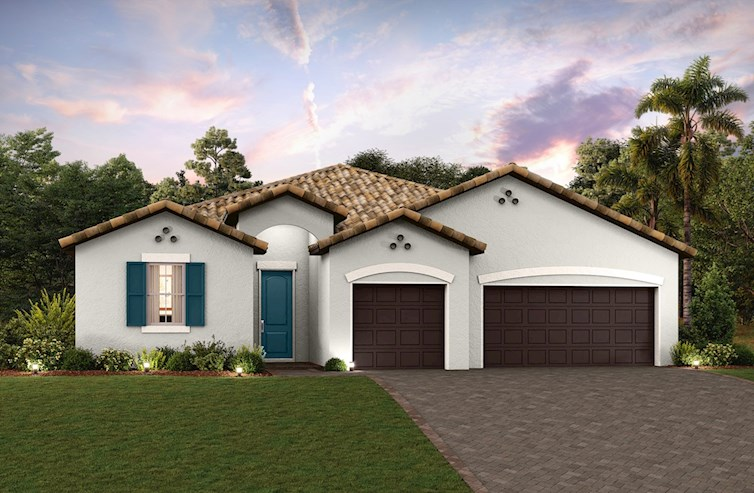 exterior rendering of ranch-style home