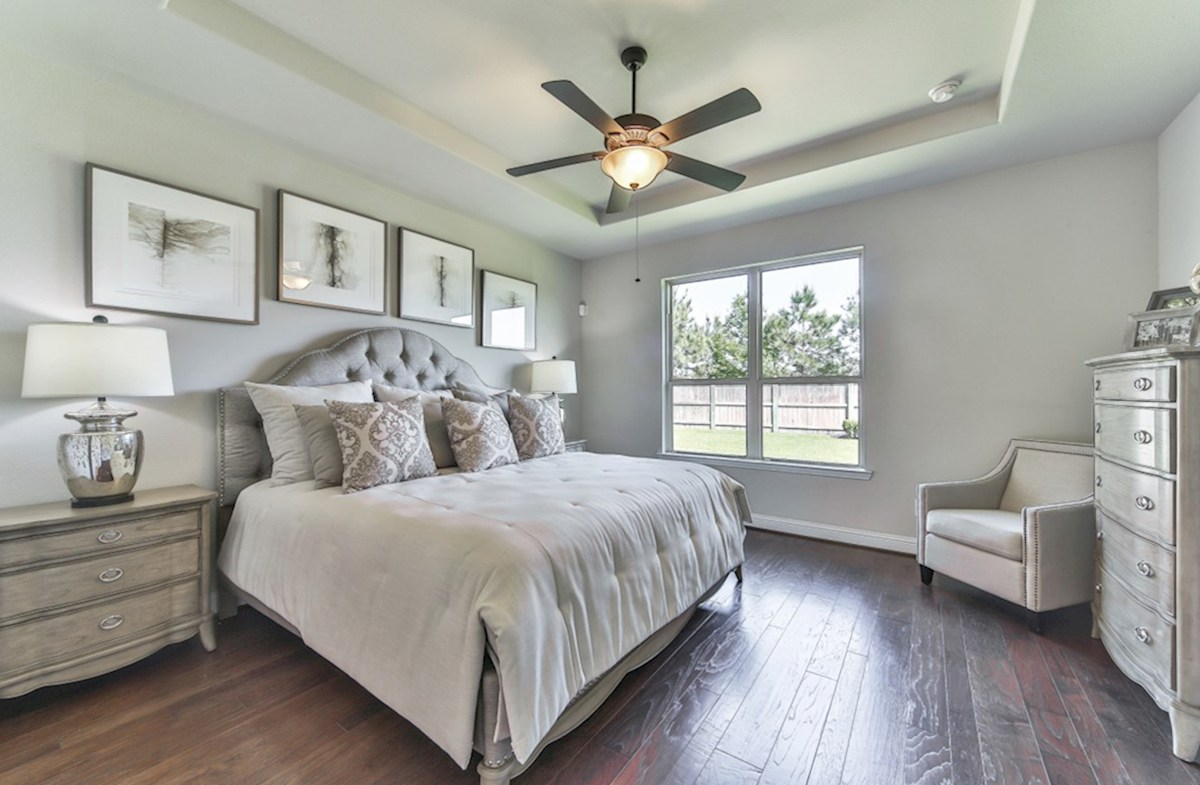 Armstrong quick move-in master bedroom with tray ceiling