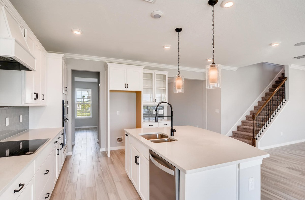 Sequoia quick move-in Open kitchen with access to dining room