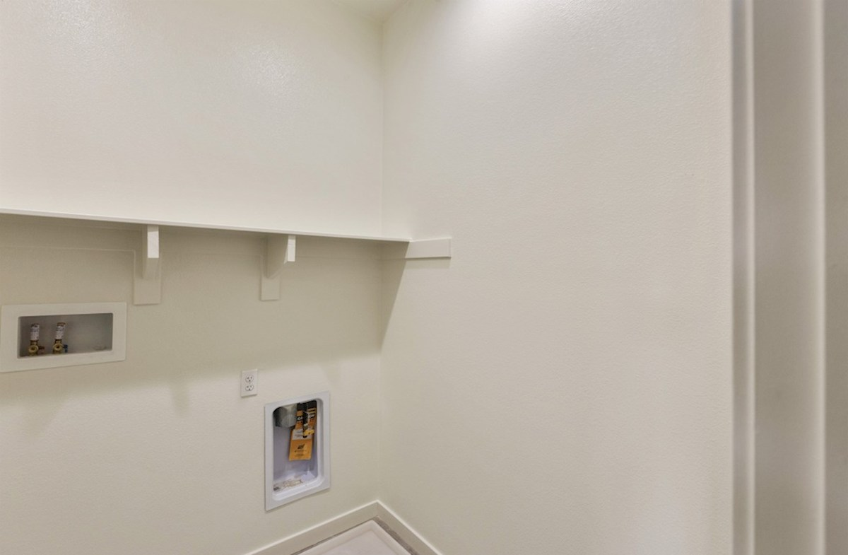 Foxtail quick move-in Abundant storage in the convenient upstairs laundry room