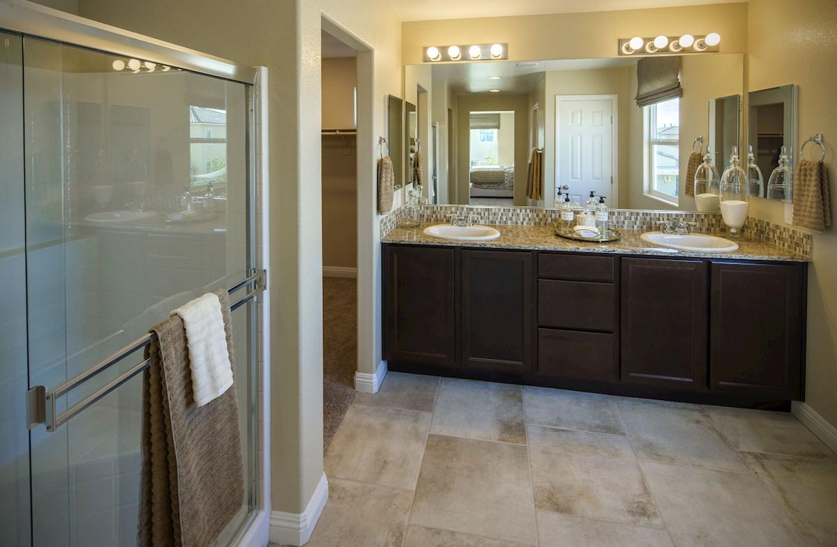 Dorrell Estates Sienna dual sinks with sports shower master bath