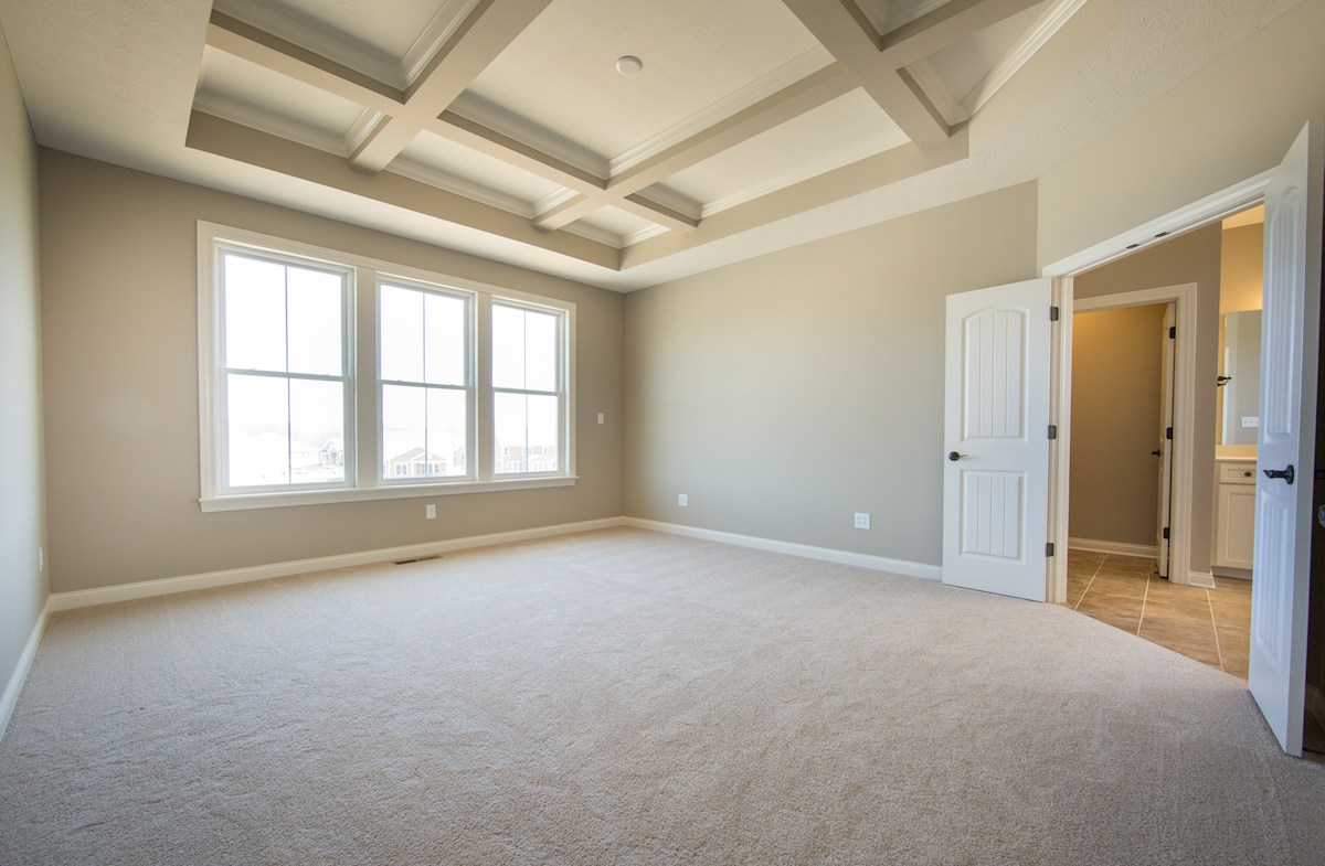 Hampshire Meridian Collection  Oakhill Owner's suite with stylish coffer ceiling