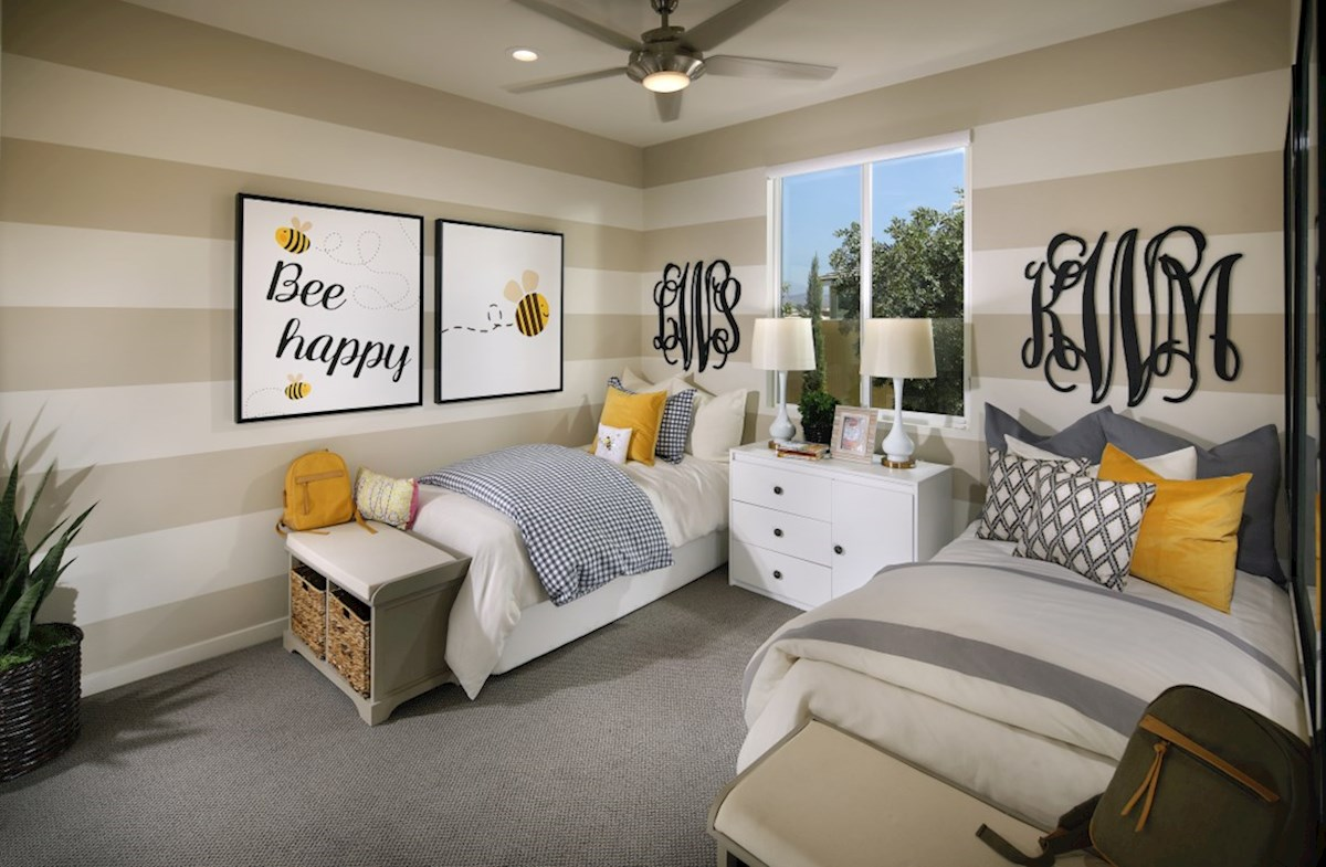 The Glen at Summerly Piedmont Secondary bedrooms are designed with optimal size to fit the needs of your family and guests.