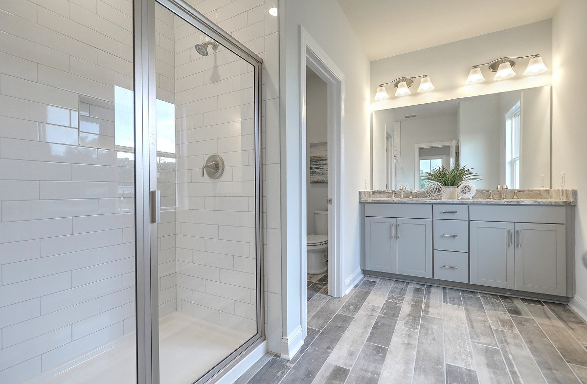 convenient master bathroom