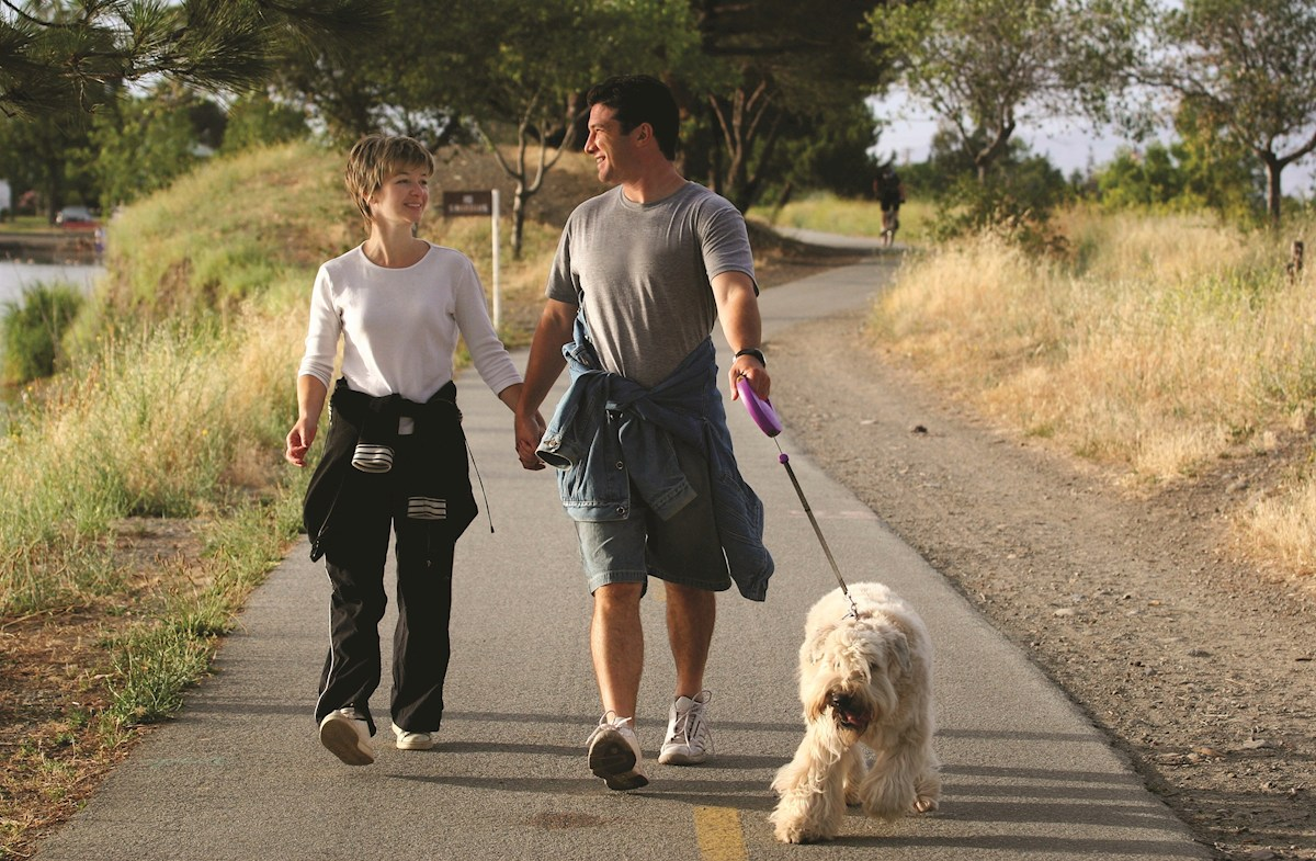 Community trails for taking the dogs for walks
