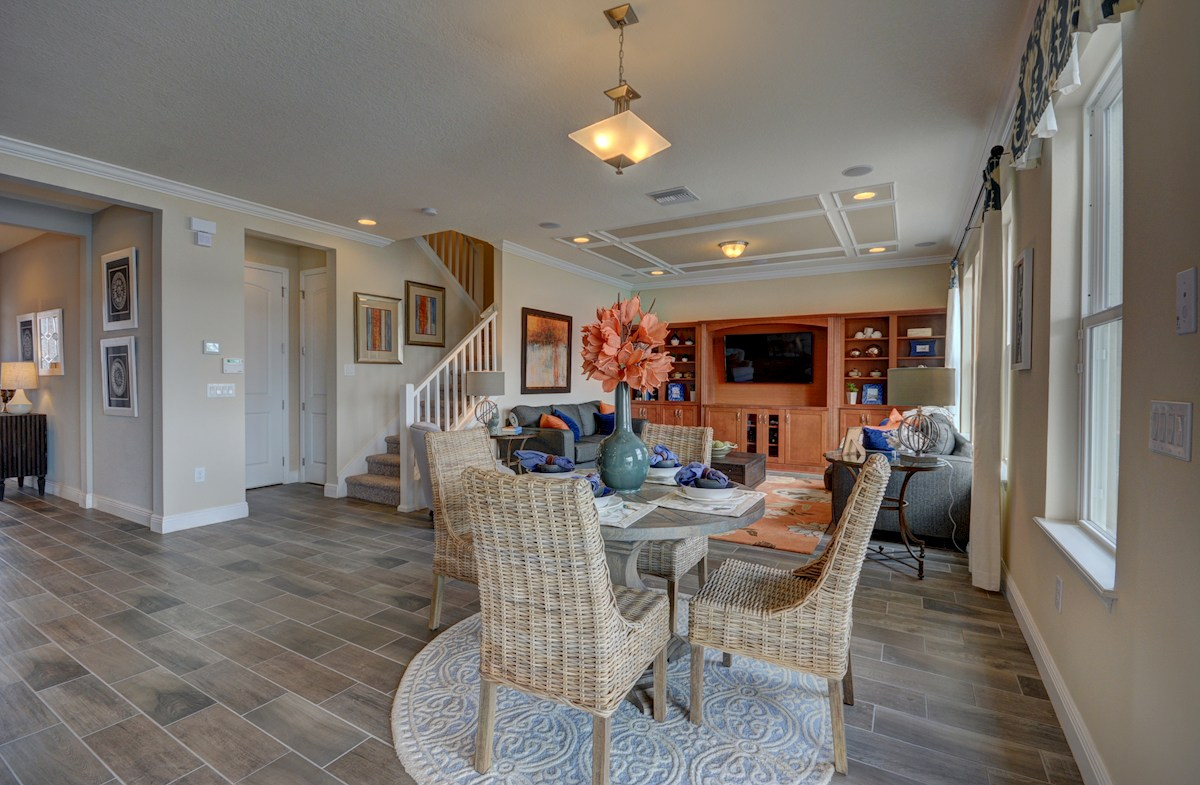 Long Lake Ranch Anna Maria Breakfast area with wood-look tile floors