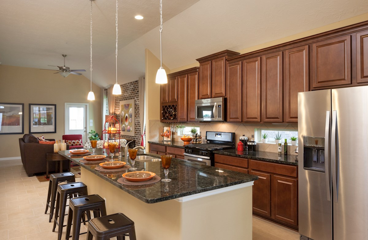 Quintera kitchen offers spacious cabinetry