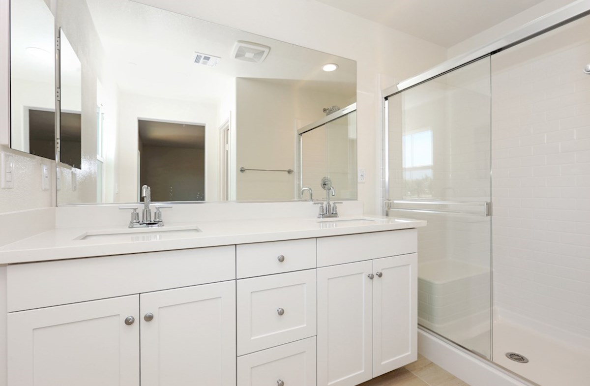 Bristol quick move-in Separate vanities give you more space and privacy