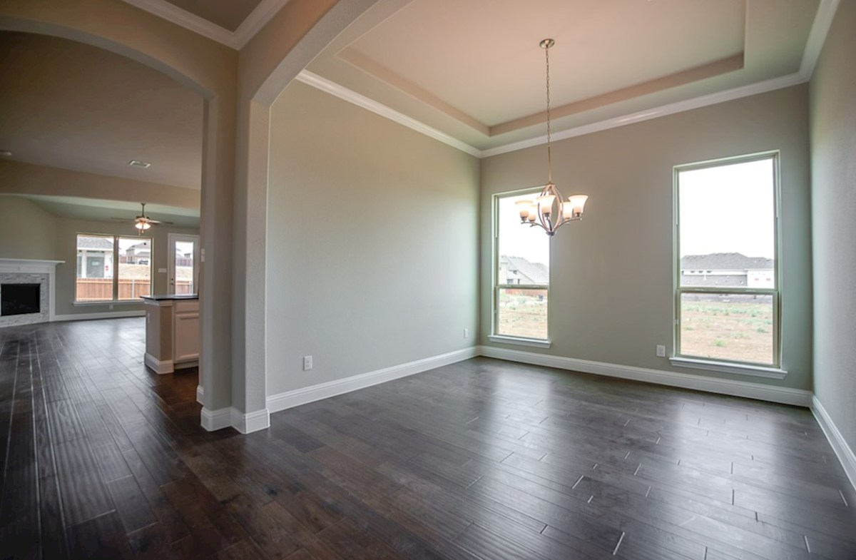 Ainsley quick move-in formal dining room includes wood flooring