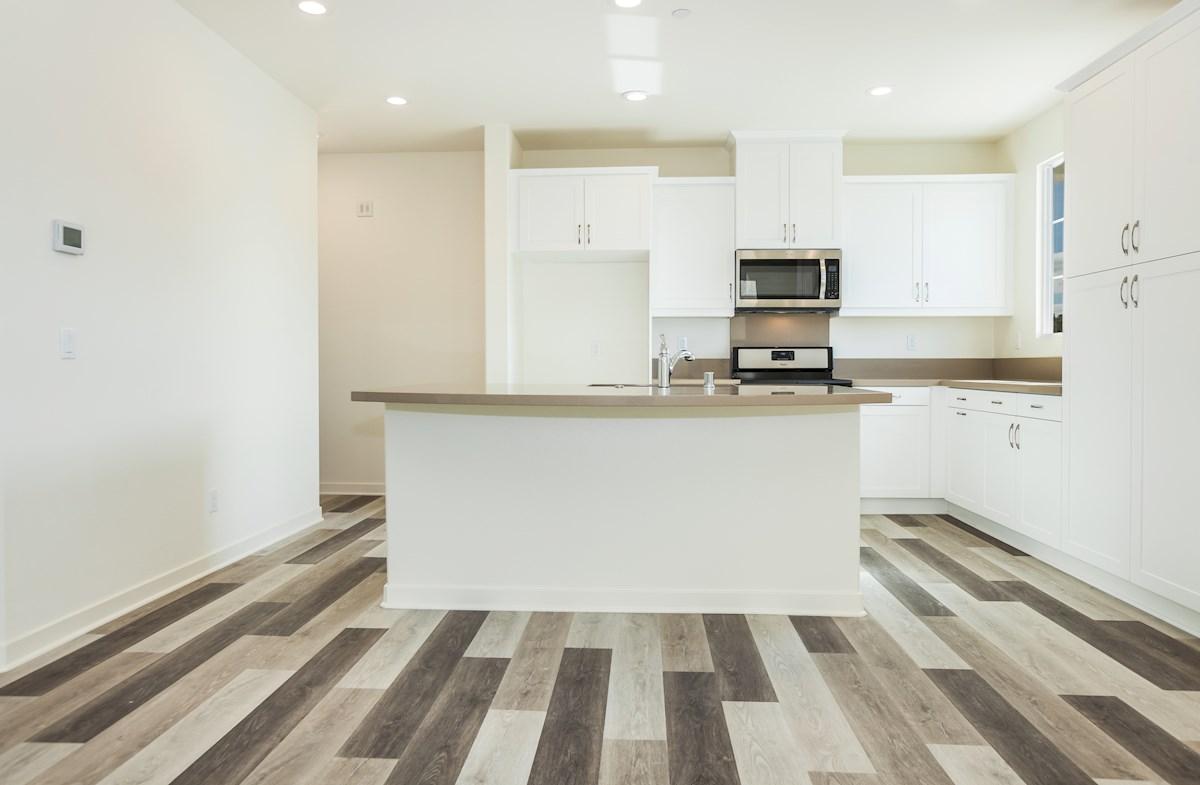 Primrose quick move-in kitchen with hardwood floors