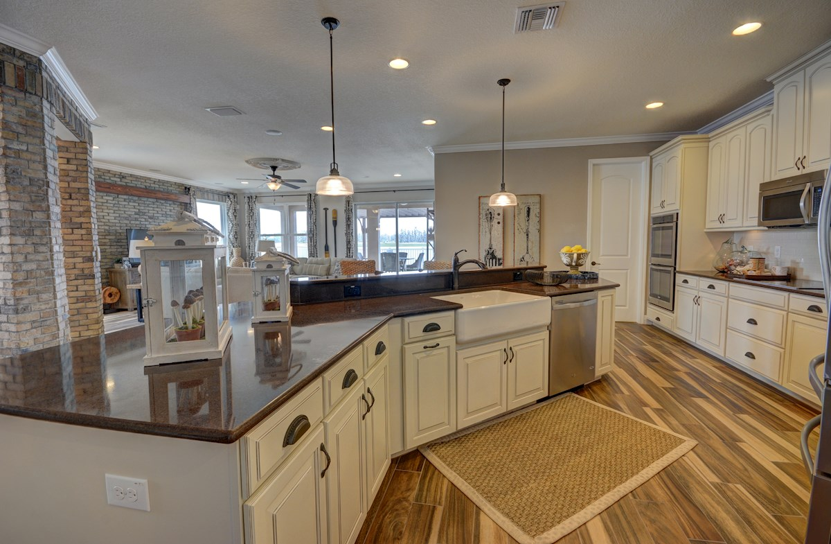 The Reserve at Pradera Redwood white kitchen cabinets