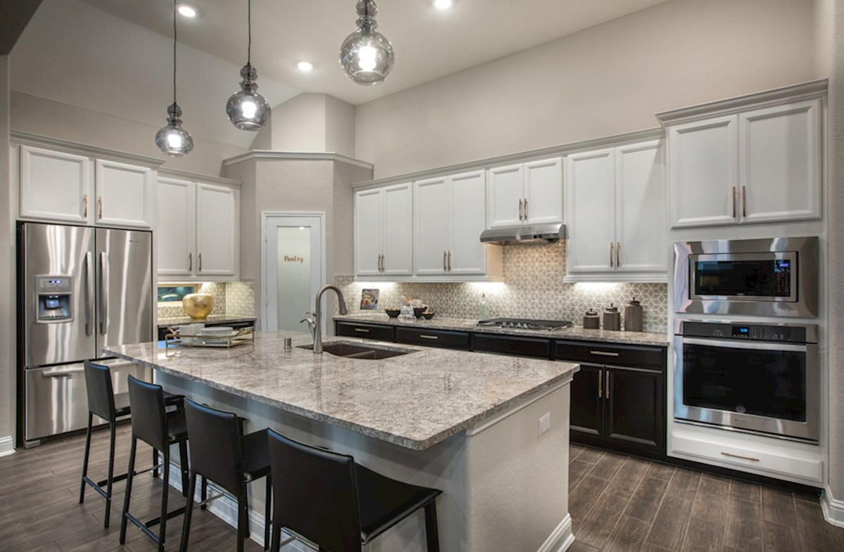 The Woodlands: May Valley Sedona kitchen with granite island