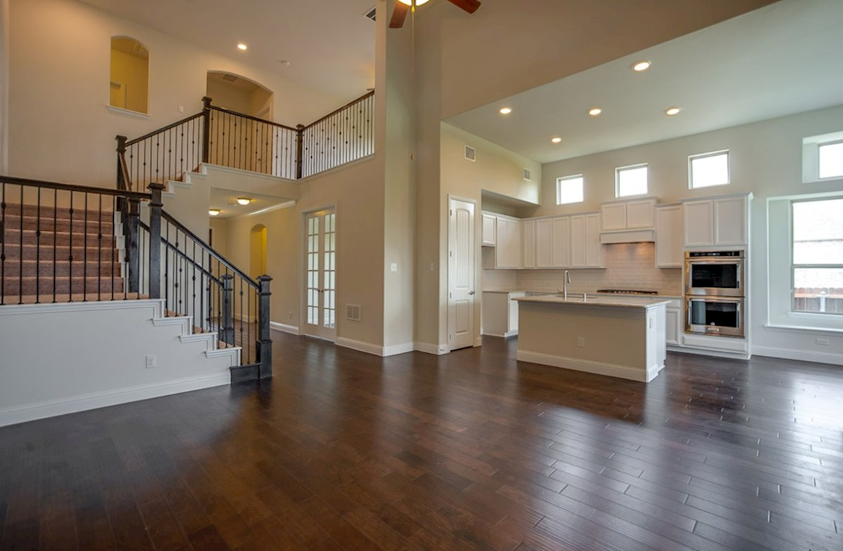 Richland quick move-in great room boasts wood flooring