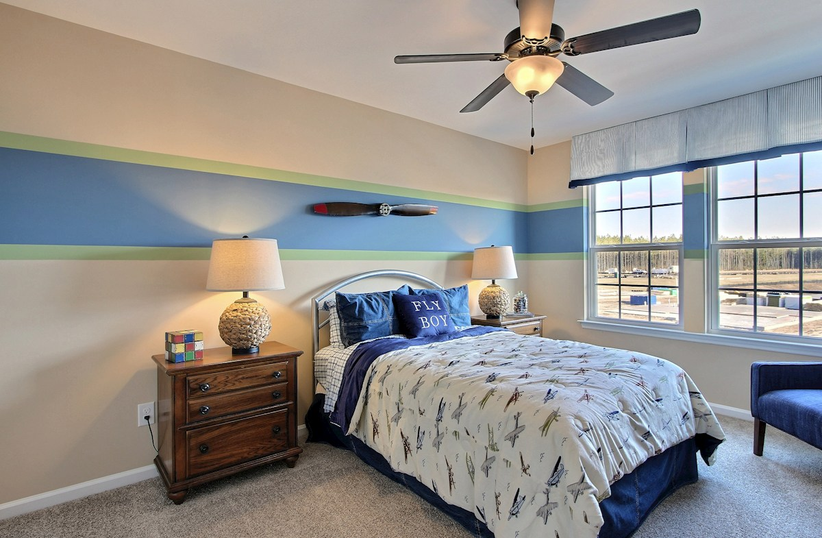 Jasmine Point at Lakes of Cane Bay Cypress spacious secondary bedroom