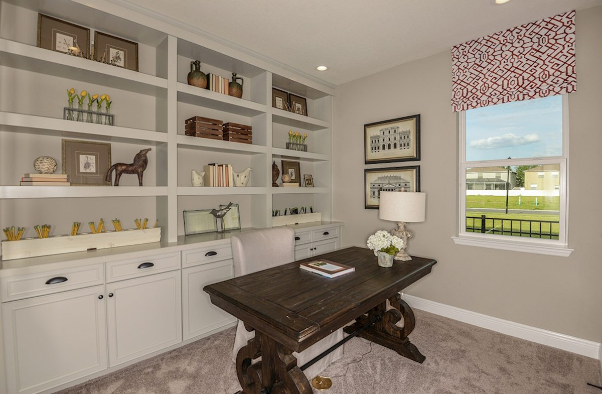 Avalon Park West Sea Breeze Bedroom designed as a home office
