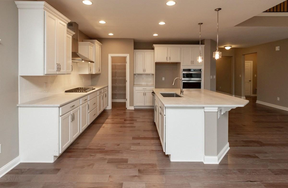 Bradbury quick move-in Kitchen with white quartz countertops
