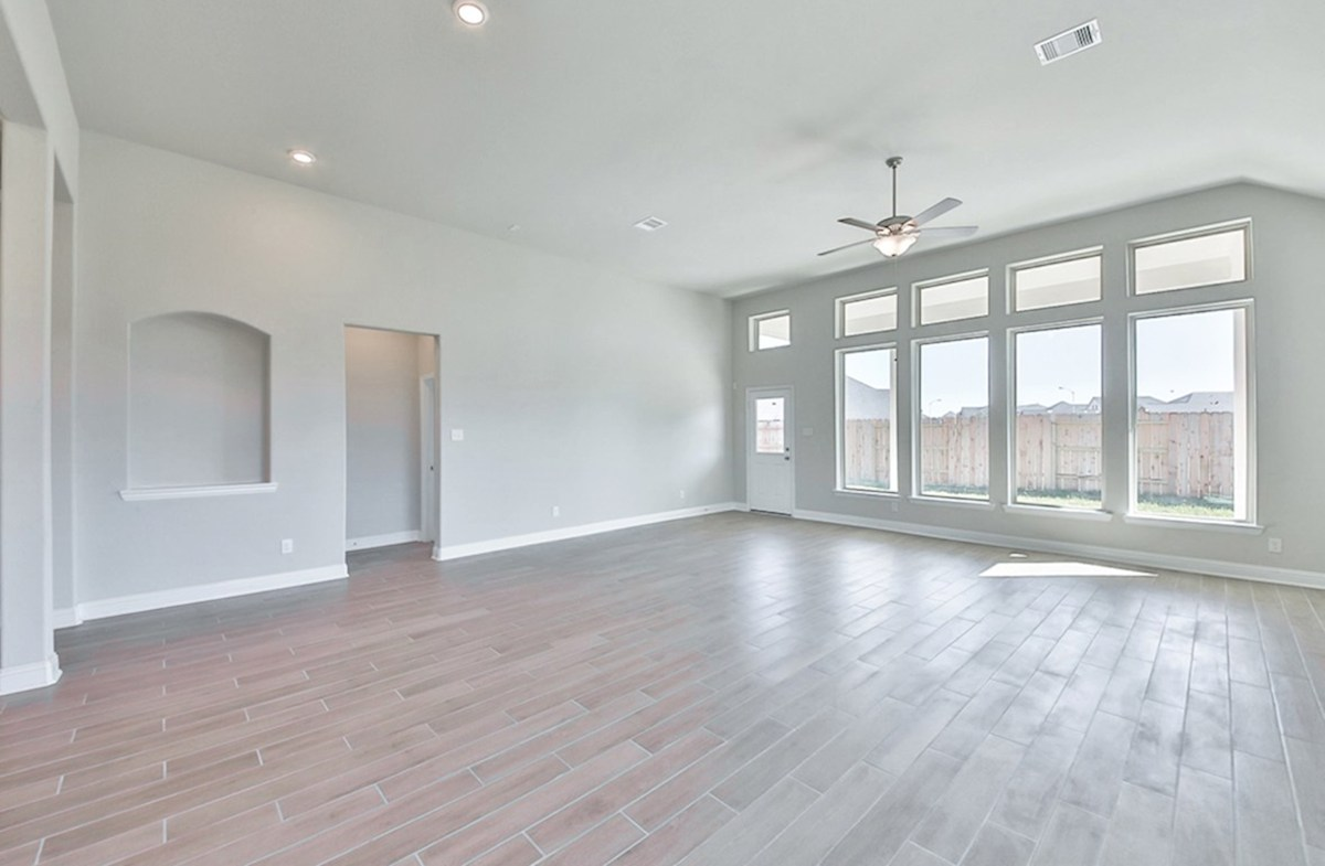 Cameron quick move-in great room with tile flooring