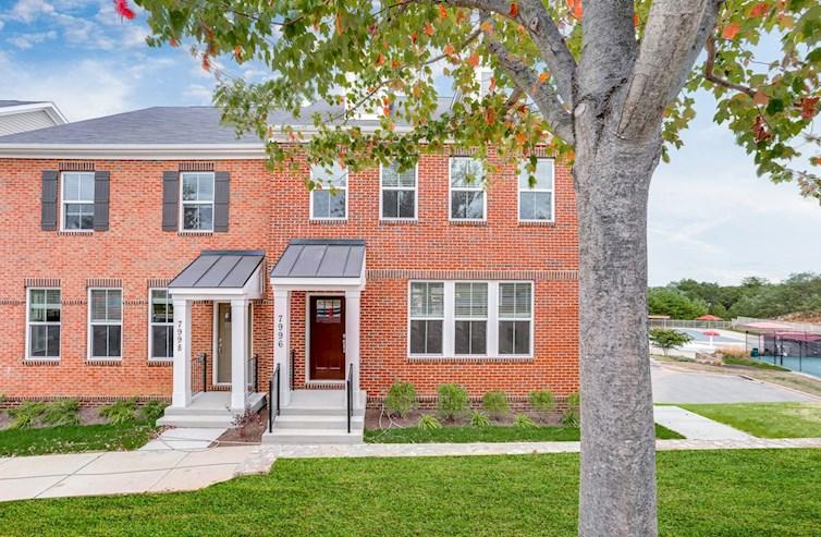 Homesite 107 Ellicott exterior in brick