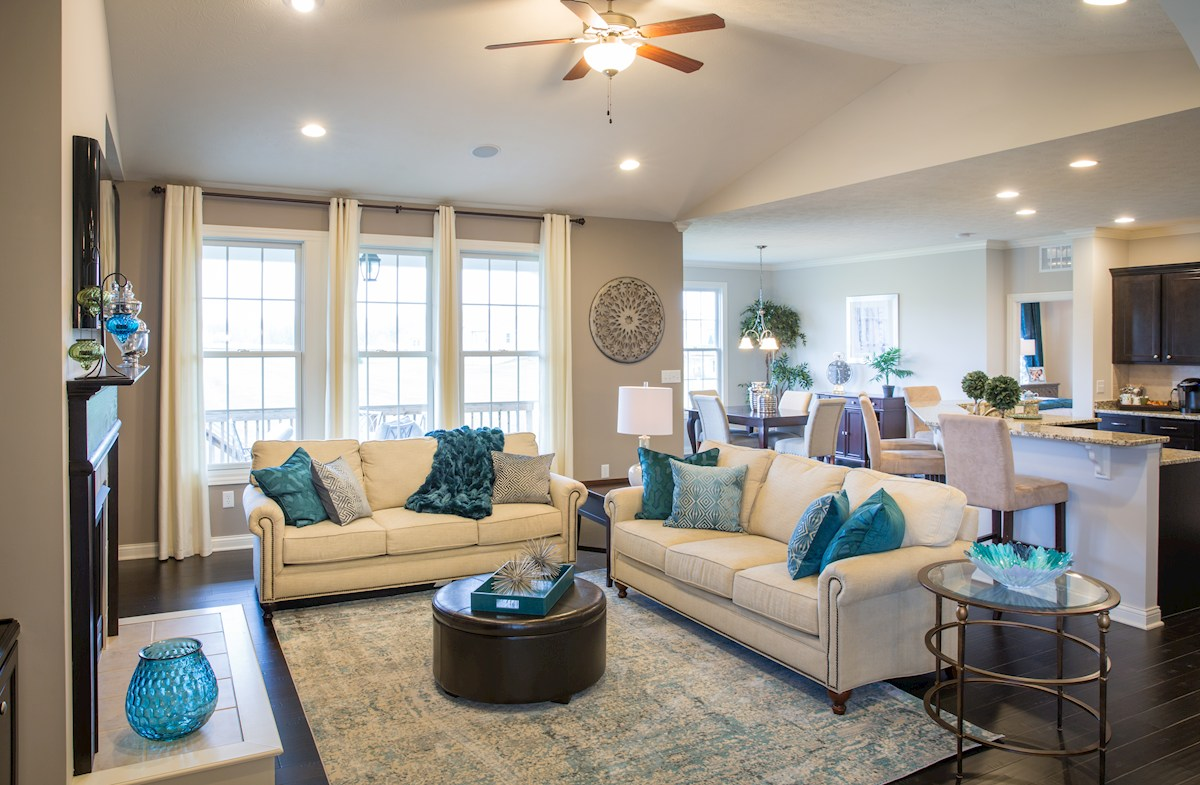 Hampshire Meridian Collection  Capitol Open and airy great room for relaxing