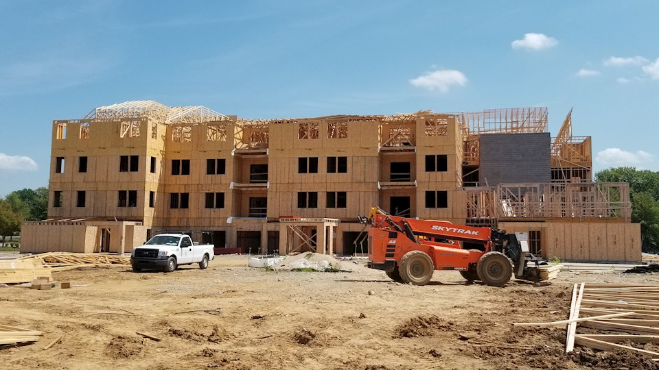 4th floor framing is complete