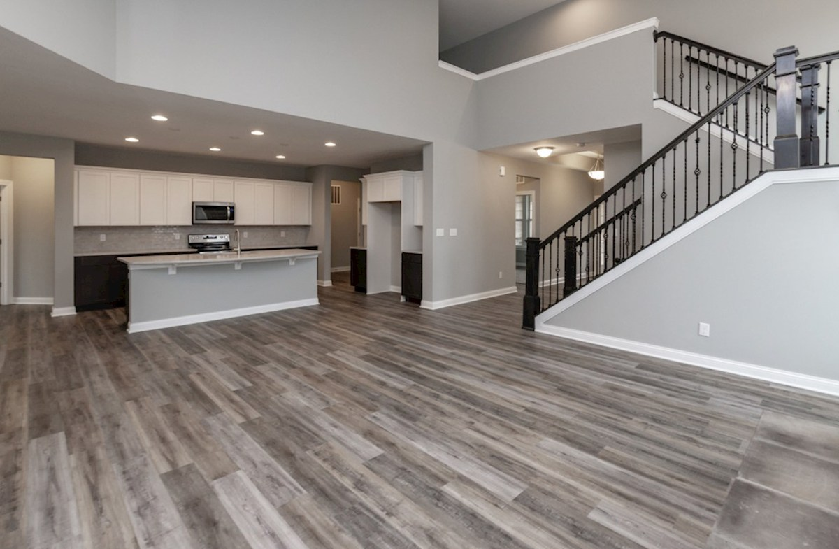 Charleston quick move-in open two story great room with hardwood floors