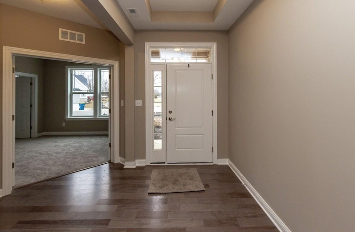 Bradbury quick move-in foyer with trey ceiling