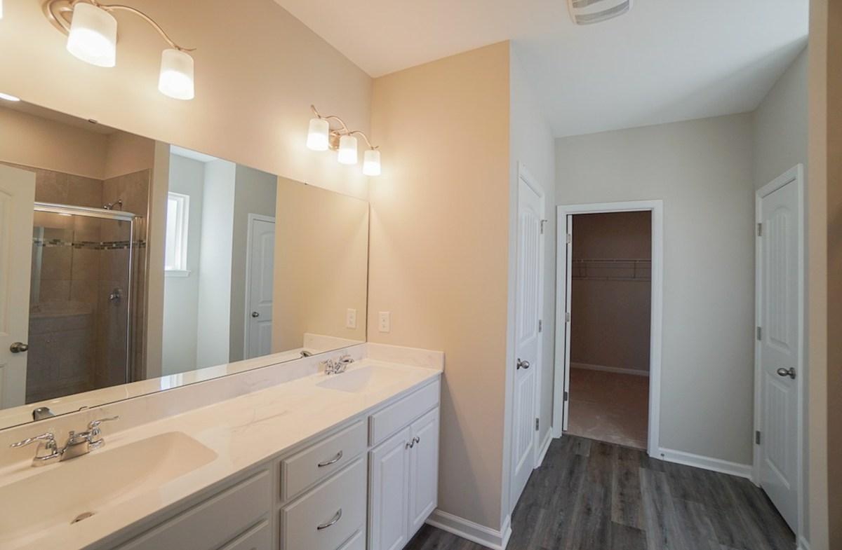 Summerton quick move-in master bathroom with double vanities