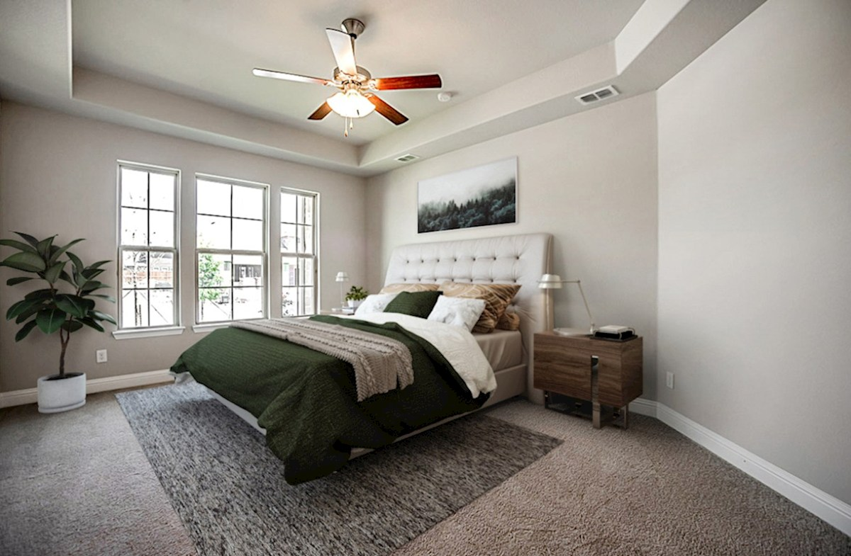 Stoney Creek Blakely Blakely master bedroom with tray ceiling