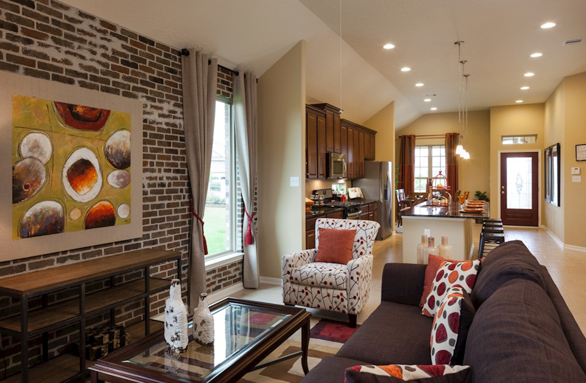 Quintera family room offers an open concept