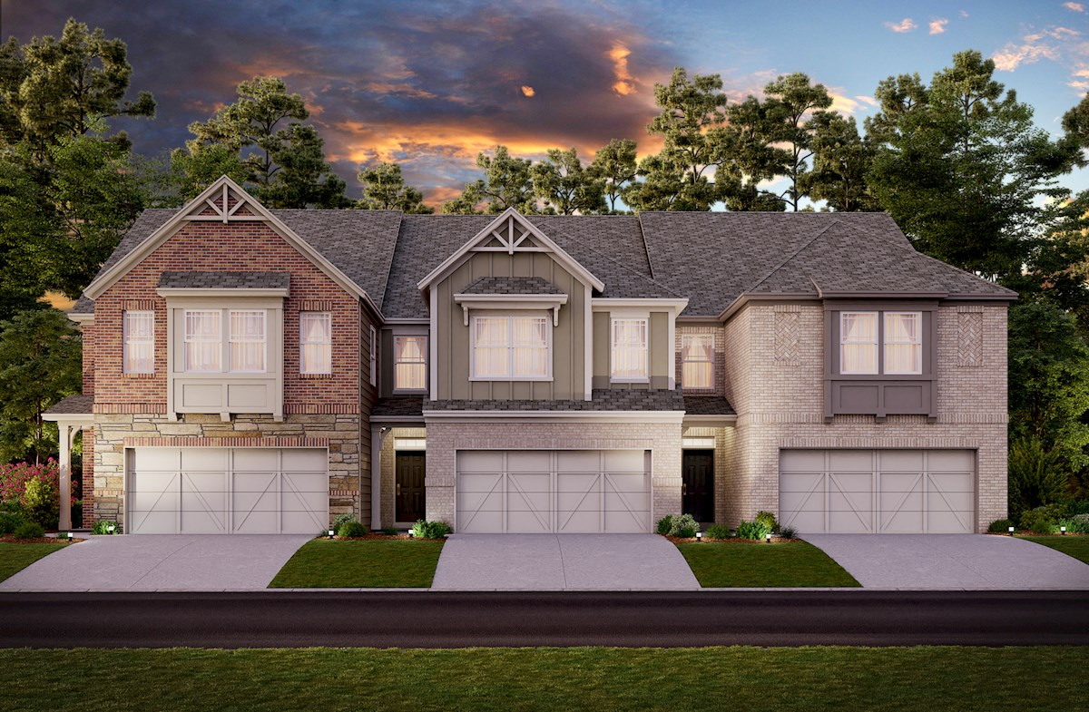 Two-story townhome front elevation