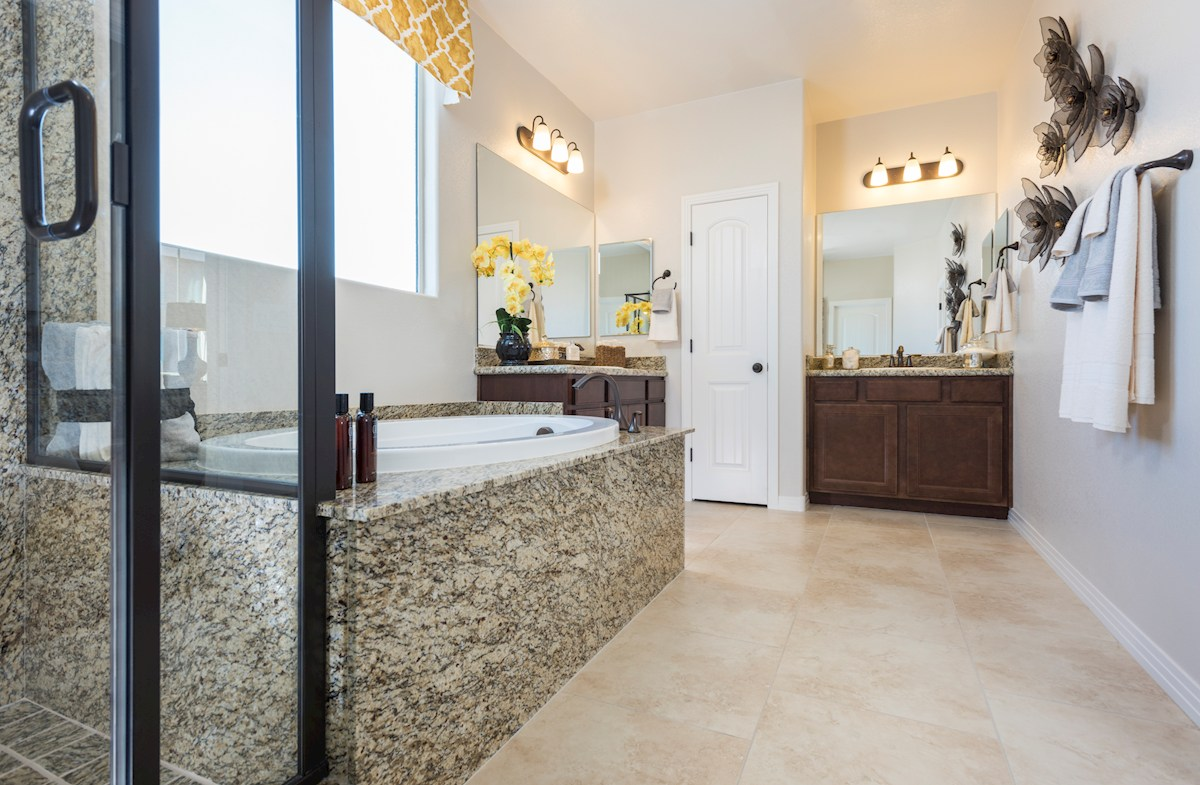 Reliance Collection at Inspirada Bayview Master bath with granite