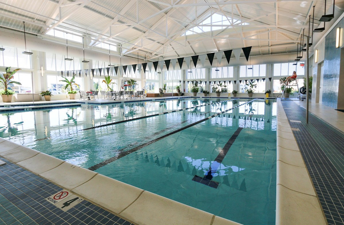 Indoor Health & Aquatics Center features a pool