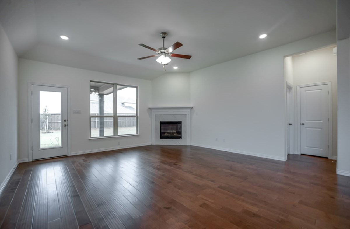Silverado quick move-in open great room with wood floors
