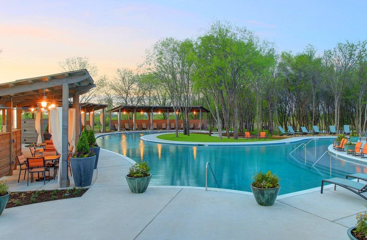community pool and cabanas