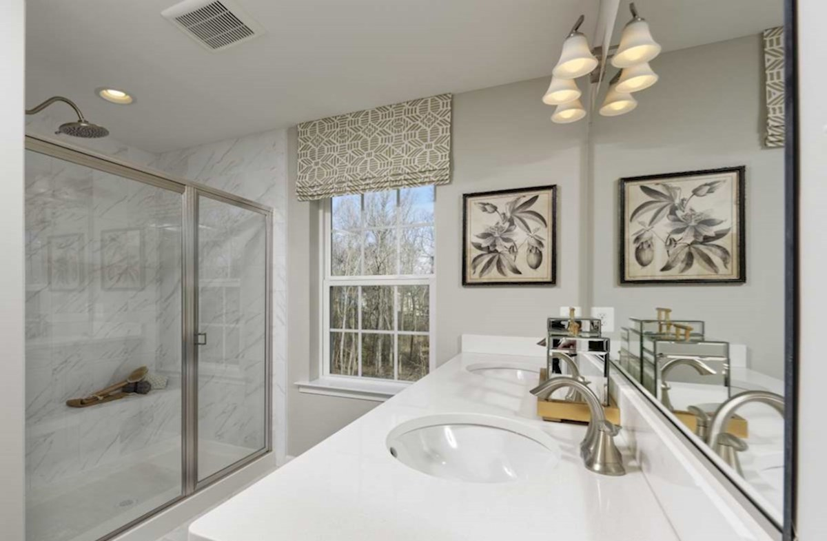 The Preserve at Windlass Run Townhomes  Vienna Vienna Master Bath